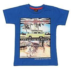 Romano Boys Blue Cotton T-Shirt
