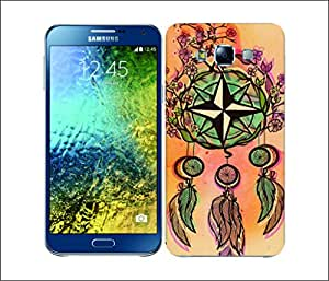 Galaxy Printed 1764 Compass Design Dream catcher Hard Cover for samsung E7