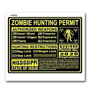 Mississippi Ms Zombie Hunting License Permit