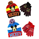 Mickey Mouse Boys Knit Hat with Gloves Set