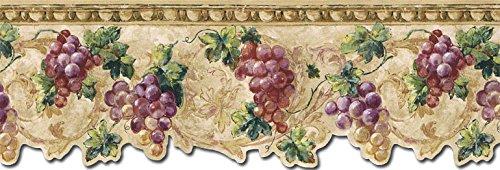 Grape Fruits Wallpaper Border TH29033DB (Kitchen Wallpaper Border Grapes compare prices)