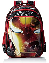 Iron Man Polyester 16 Inch Black And Red Children's Backpack (MBE-WDP0515)