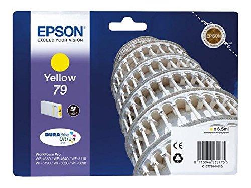 Epson original - 79-jaune-cartouche d'encre-pour workForce wF-pro, 4630DWF-wF wF - 5110DW 4640DTWF, 5190DW-wF wF wF - 5620DWF, ePS - 5690DWF c13T79144010 wF5110WF 800pages 79 yellow iNK