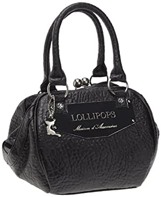 Lollipops Polibri Frame, Sac porté main - Noir (Black)