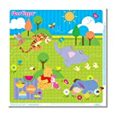 Disney Pooh Floor Topper Disposable Mess Mats, 5-Count