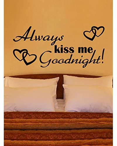Ambiance-Sticker Vinilo Adhesivo Kiss Me And Good Night