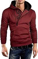 Grin&Bear demi fermeture éclair sweat à capuche veste sweat shirt homme, GEC401