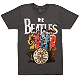 The Beatles Sgt Peppers Lonely Hearts Club Band Men's T-Shirt - Grey (XX-Large)