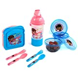 9pc Disney Doc McStuffins Lunch Snack Container Set Canteen Utensils