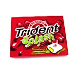 Trident Splash Strawberry and Lime 9 Pack 20g