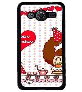 Printvisa Happy Birthday Kitty Girl Back Case Cover for Samsung Galaxy Core 2 G355H