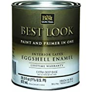 - HW34W0803-14 Best Look Interior Latex Eggshell Paint And Primer In One Enamel