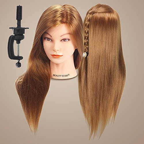 Beauty-Star-20-Long-Hair-Cosmetology-Mannequin-Manikin-Training-Head-Model-with-Clamp