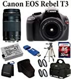 51yNSddzACL. SL160  Canon EOS Rebel T3 12.2MP Digital SLR Camera with 18 55mm Lens