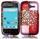 Exotic Cheetah Hard Case Cover Faceplate Protector for Huawei Ascend Y H866 / M866 / H866C Straight Talk with Free Gift Reliable Accessory Pen