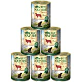 Dehner Best Nature Katzenfutter Senior Lamm und Weizenkleie, 6 x 400 g (2.4 kg)