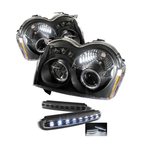 Jeep Grand Cherokee Halo Led ( Replaceable Leds ) Black Projector Headlights