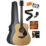 Yamaha FG800 Acoustic Guitar Bundle with Gig Bag, Tuner, Strap, Strings, Picks, Austin Bazaar Instructional DVD, and Polishing Cloth - Natural