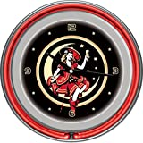 Miller High Life Girl Moon Vintage 14 Inch Neon Clock US AC Standard 110V Plug Step-down Converter