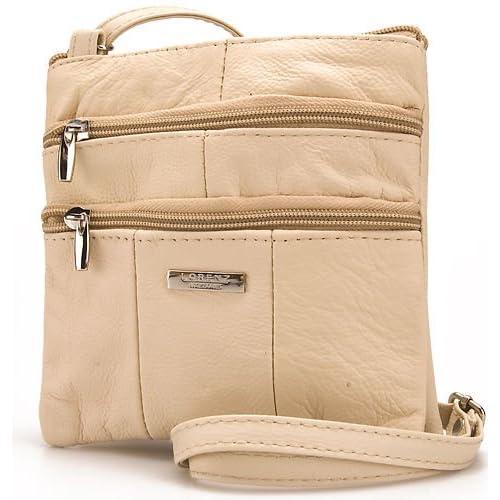 Lorenz Ladies Small Genuine Soft Leather Cross Body   Shoulder Bag (1) # 1941