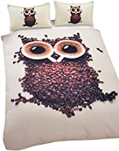 Owl Duvet Cover Set 3D Bedding Set  king