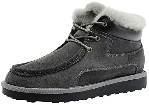 Rock Me Women's Baken III Suede Waterproof Lace Up Winter High Top Grey Snow Boots Size 10 B(M) US