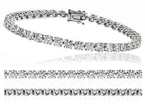 23.00 cts G/VS2 Certified Diamond Bracelet - 18CT White Gold