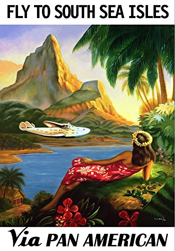 pan-am-fly-to-south-sea-isles-wonderful-a4-glossy-art-print-taken-from-a-rare-vintage-travel-poster
