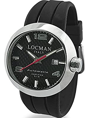 Locman Automatic Watch with 46mm Case and Carbon Fiber Dial 425CRBSL