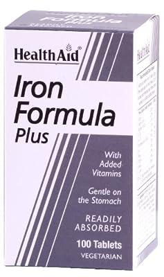 HealthAid Iron Formula Plus - 100 Vegetarian Tablets from HealthAid
