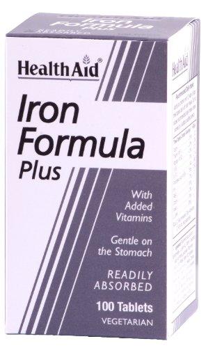 HealthAid Iron Formula Plus - 100 Tablets