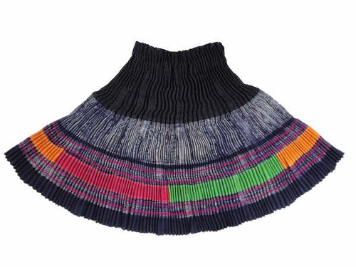 Interact China Hand Stitch Embroidery Miao Hmong Lady Dress Skirt #109 - One Size - Black
