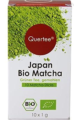 3 x 10 - Matcha Sticks - Japan Bio Matcha Tee - Matcha to go - Matcha für unterwegs und im Büro - Als Trinkgenuß, zum Kochen, Backen und Probieren - 30 x 1 g als praktische Dosier Sticks von Quertee® von tee-markt24 - Gewürze Shop