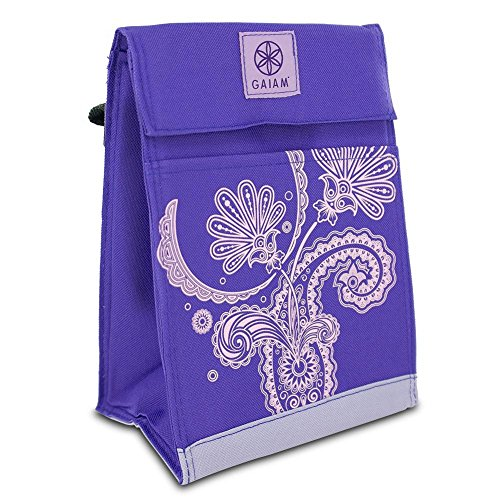 Gaiam 305346 Lunch Sack - Purple Paisley