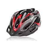 Ezyoutdoor Helmet Integrated Ultralight Road Mountain Bike MTB Mountain Bicycle Cycling Sports Safety Helmet for Men Women (Red)