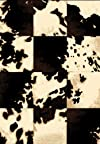 Creative Home Safari Area Rug 42044-90 Black Checkered Cow 7' 10