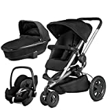 Quinny Buzz Xtra Rocking Black with Carrycot and Pebble Car Seat