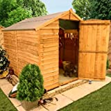 BillyOh 7'x6' Windowless Rustic Overlap Wooden Garden Shed
