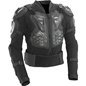 Fox Racing Titan Sport Jacket Men's Roost Deflector Motocross/Off-Road/Dirt Bike Motorcycle Body Armor - Black / Small