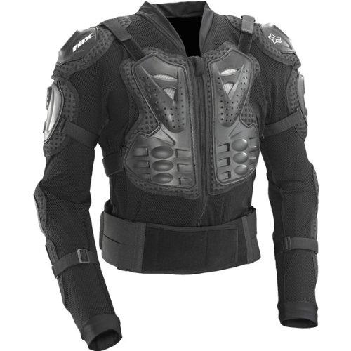 Fox Racing  Titan Sport Jacket Men's Roost Deflector Motocross/Off-Road/Dirt Bike Motorcycle Body Armor - Black / 2X-Large