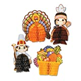 Beistle 4-Pack Decorative Thanksgiving Playmates, 4-Inch-5-Inch