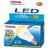 東芝 E-CORE(イー・コア) LED電球 ミニクリプトン形 4.3W (密閉器具対応・フィンレス構造・E17口金・小形電球25W相当・250ルーメン・電球色) LDA4L-E17