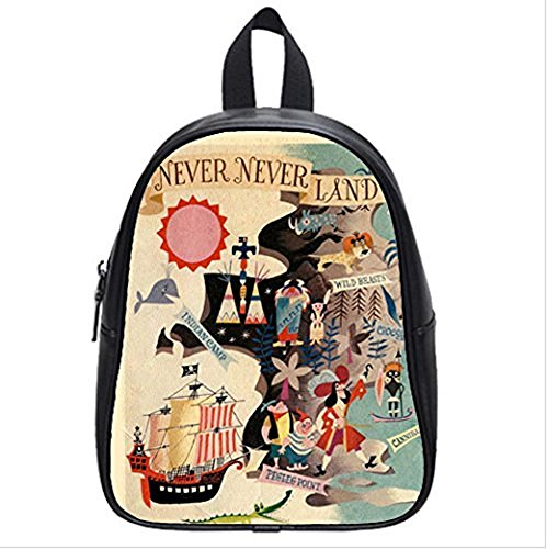 Emana Custom Neverland Peter Pan middle school Student Shoulder backpack School Bag travel backpack (Peter Pan Backpack compare prices)