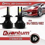 Optix LED Headlight Conversion Kit - Dual Hi / Low Beam Bulbs - 80W - 8,000LM - 6000K 6K Cool White - H4 HB2 9003 - 2 Year Warranty