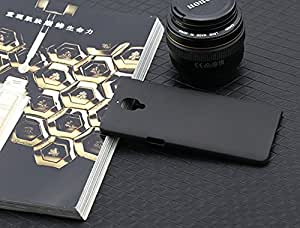 Golden Sand&Trade Ultra Thin Series Rugged Hard Back Case Velvet Feel 0.5Mm Flexible Pc Shell Perfect Fit Cover For One Plus 3 (Matte Black)