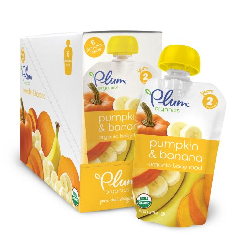 Plum Organics Baby Second Blends Food, Pumpkin/Banana, 4 Ounce (Pack of 6)