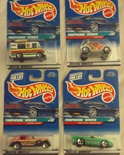 Hot Wheels 1998 Tropicool Series Complete Set of 4 - 1