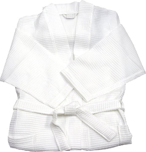White Waffle Spa Robe Unisex Cotton Robe - New Low Price One Size Fits Most