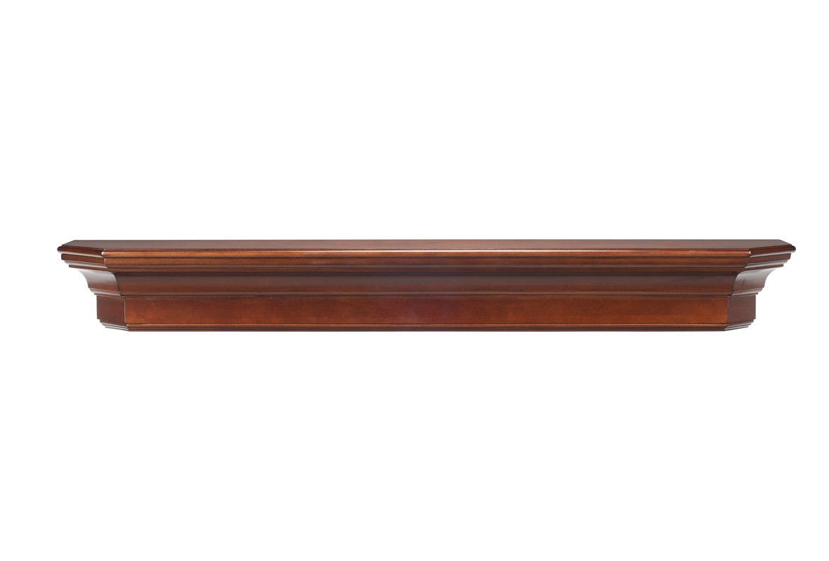 Pearl mantels 490 60 70 lindon wood 60 inch wall shelf - Types fireplace mantel shelves choose ...