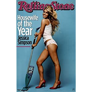 Jessica Simpson (Rolling Stone Cover) Black Wood-Mounted Music Poster Print - 22